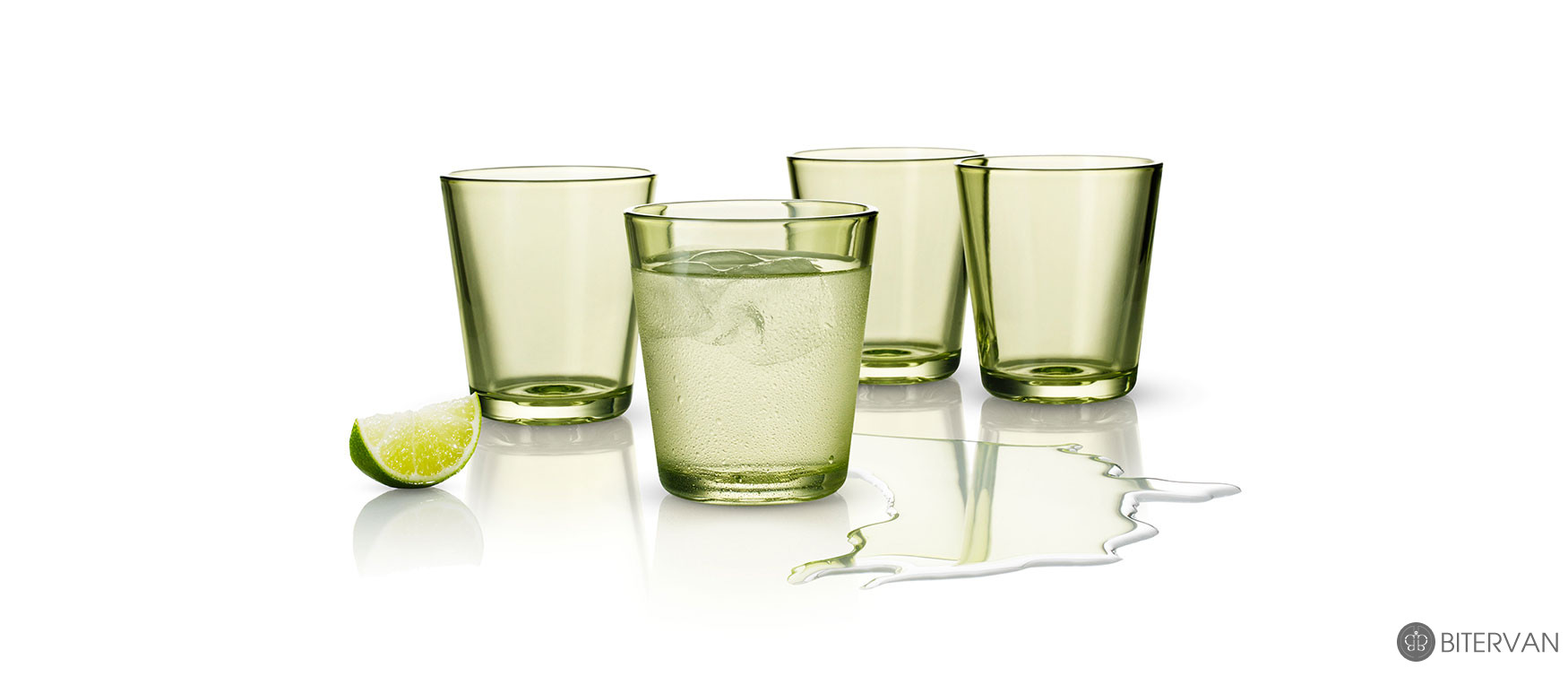 eva solo, coloured tumblers, 4 pcs, lime, 250 ml