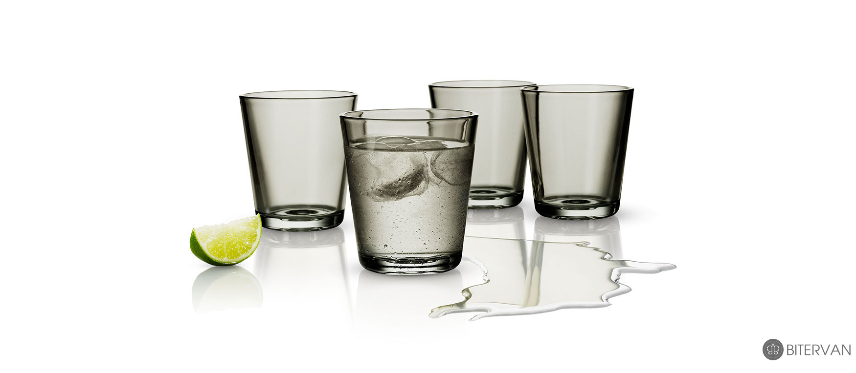 eva solo, coloured tumblers, 4 pcs, smokey grey, 250 ml