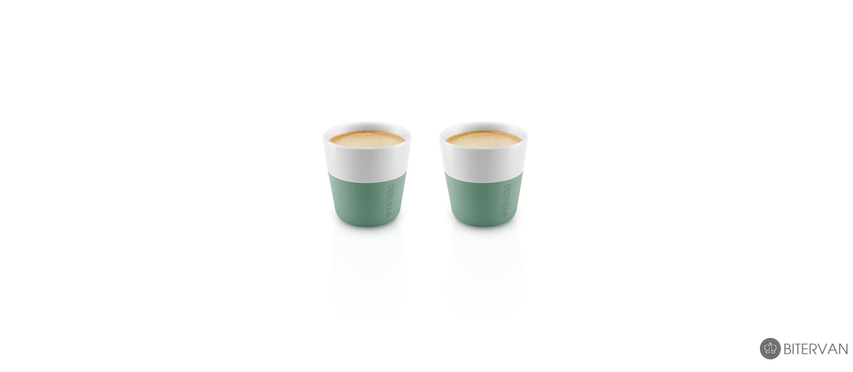 eva solo, espresso tumbler, 2 pcs, granite green, 80 ml