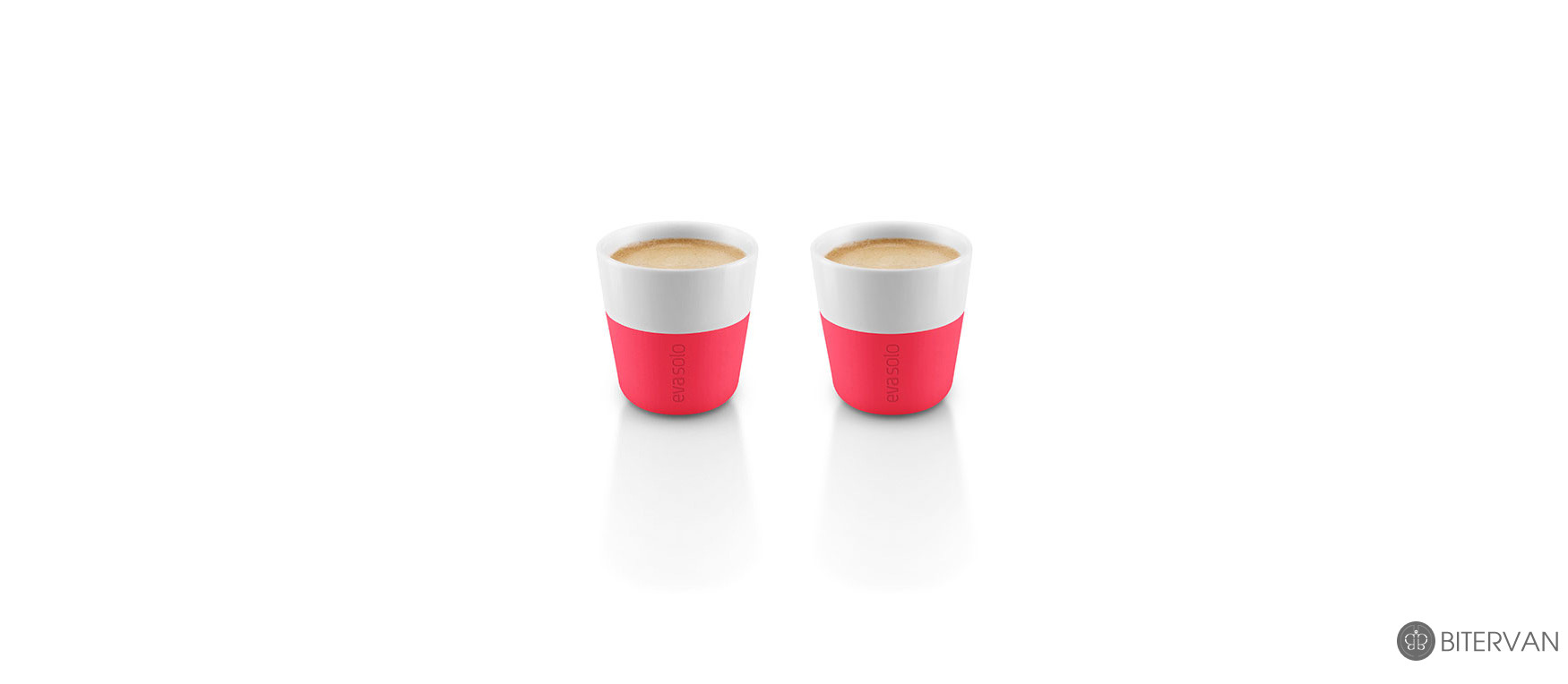 eva solo, espresso tumbler, 2 pcs, flashy pink, 80 ml