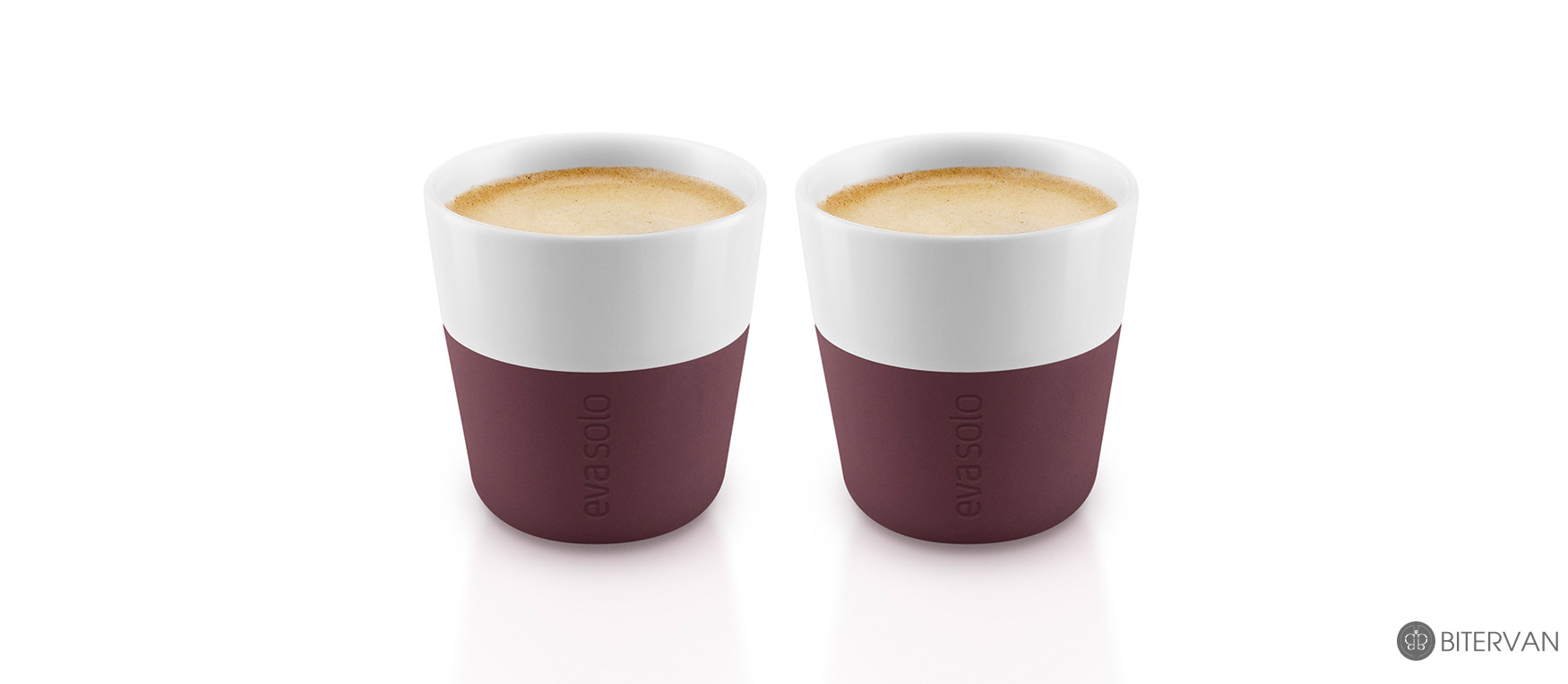 eva solo, espresso tumbler, 2 pcs, Dark Burgundy, 80 ml