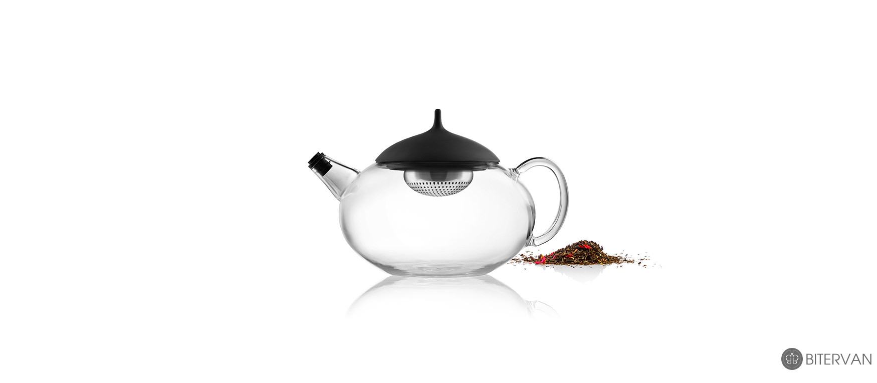 eva solo, glass teapot with a built-in tea egg, 1.0 l