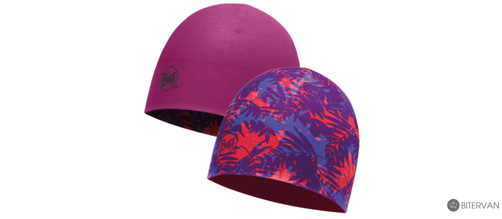 COOLMAX REVERSIBLE HAT BUFF® GALS LILAC - BOYSENBERRY-VIOLET