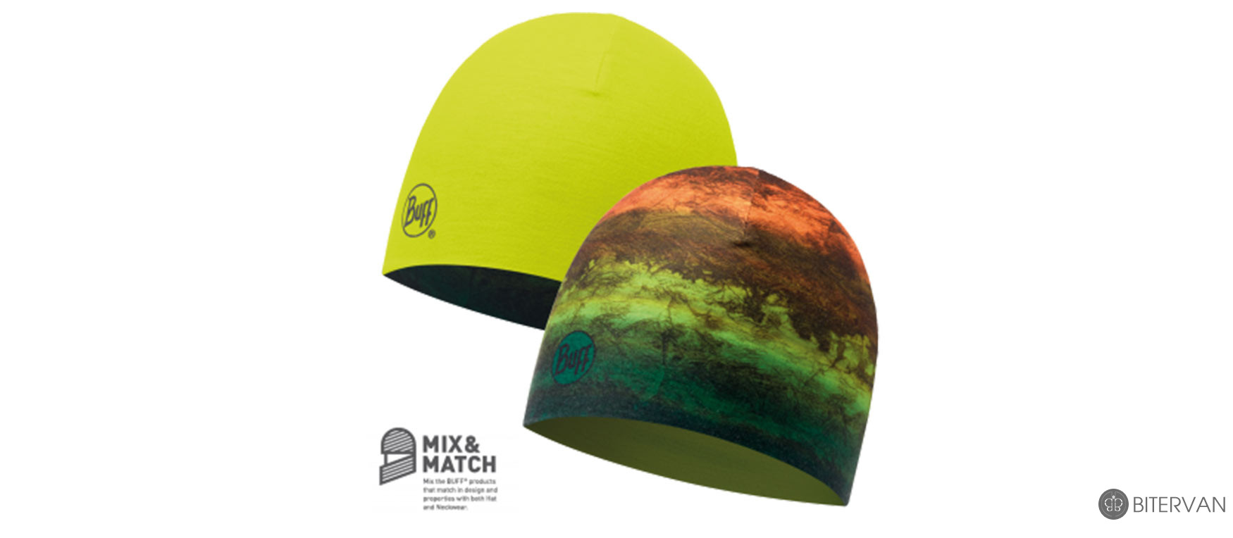 COOLMAX REVERSIBLE HAT BUFF® MOT MULTI - YELLOW FLUOR
