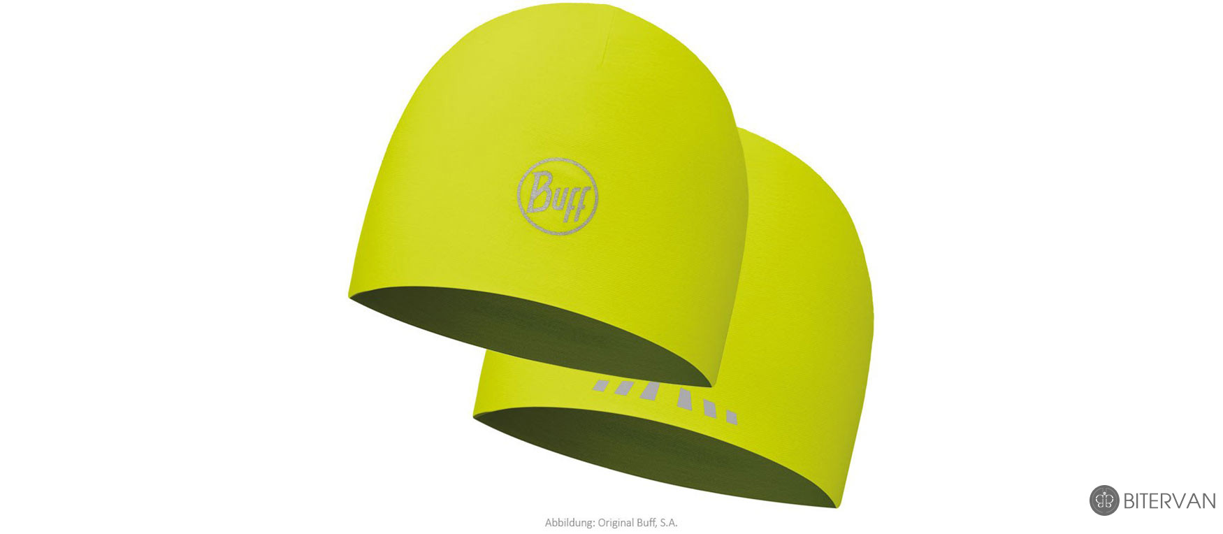 COOLMAX REVERSIBLE HAT BUFF® R-SOLID YELLOW FLUOR