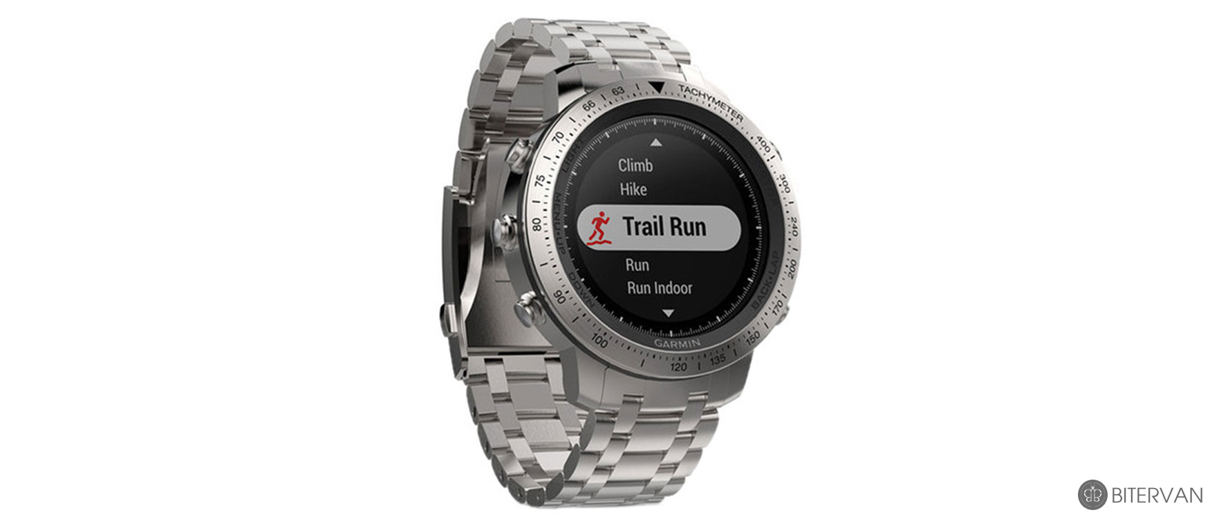 GARMIN fēnix® Chronos with Brushed Stainless Steel Band