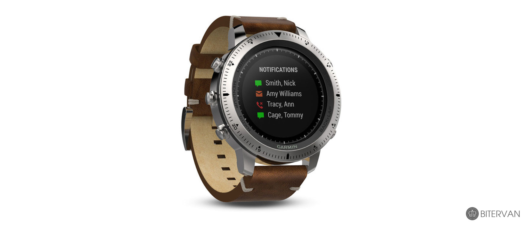 GARMIN fēnix® Chronos with Leather Band