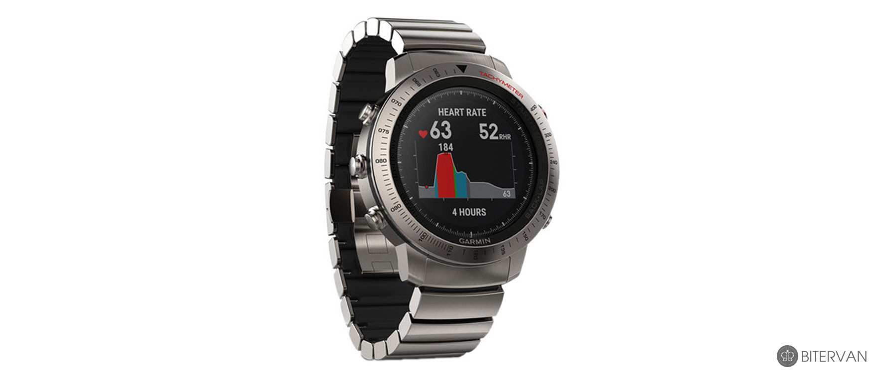 GARMIN fēnix® Chronos with Titanium Hybrid Band