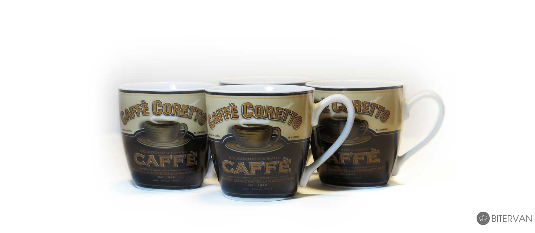 Thinkkitchen Family- STOKES CAFE CORETTO-S/4 MUGS