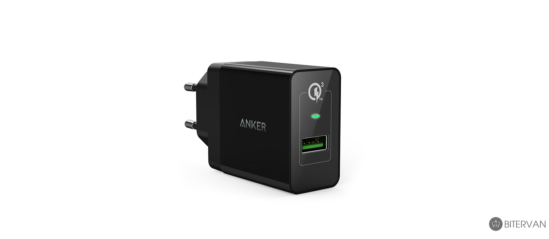 Anker B2013 PowerPort Plus 1 with Quick Charge 3.0 - Black + Anker micro usb cable (3ft) -Black