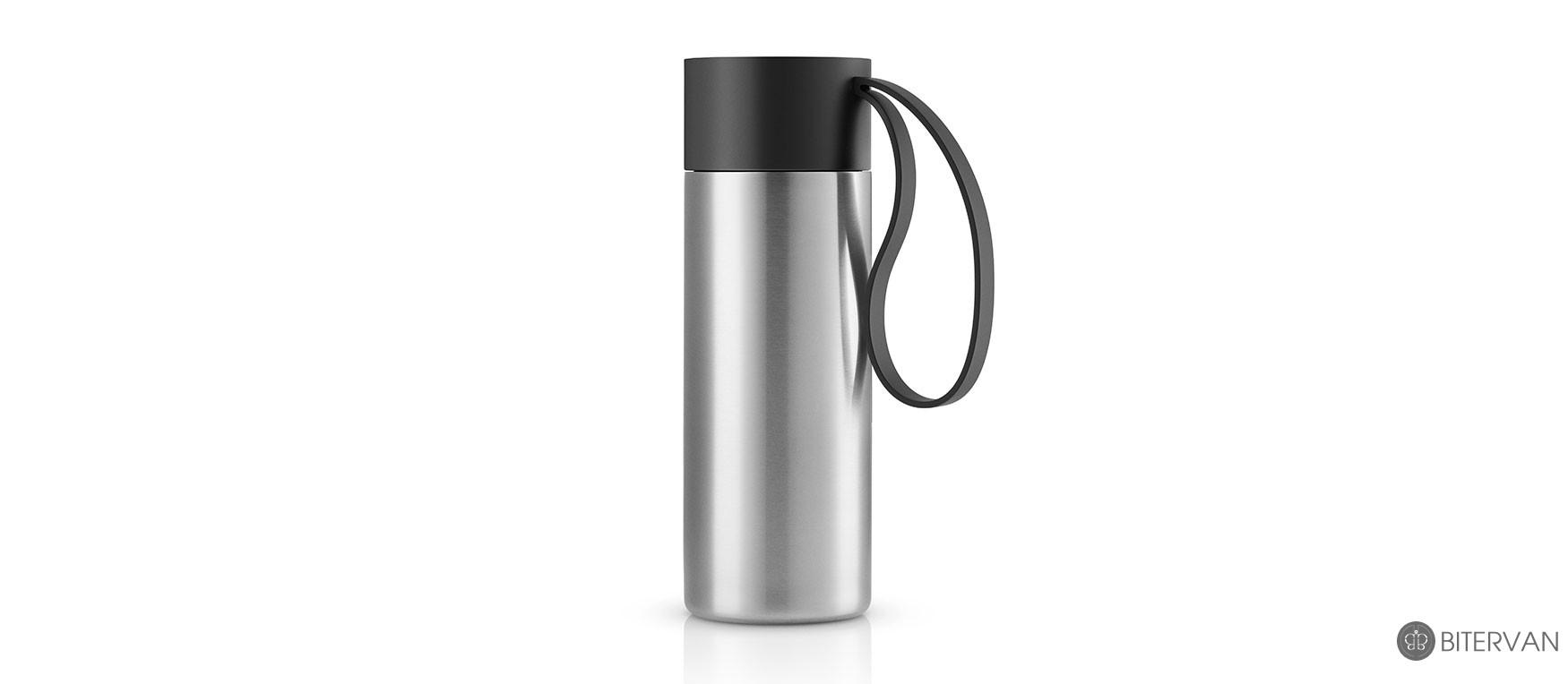 eva solo, to go cup, black, 0.35 l